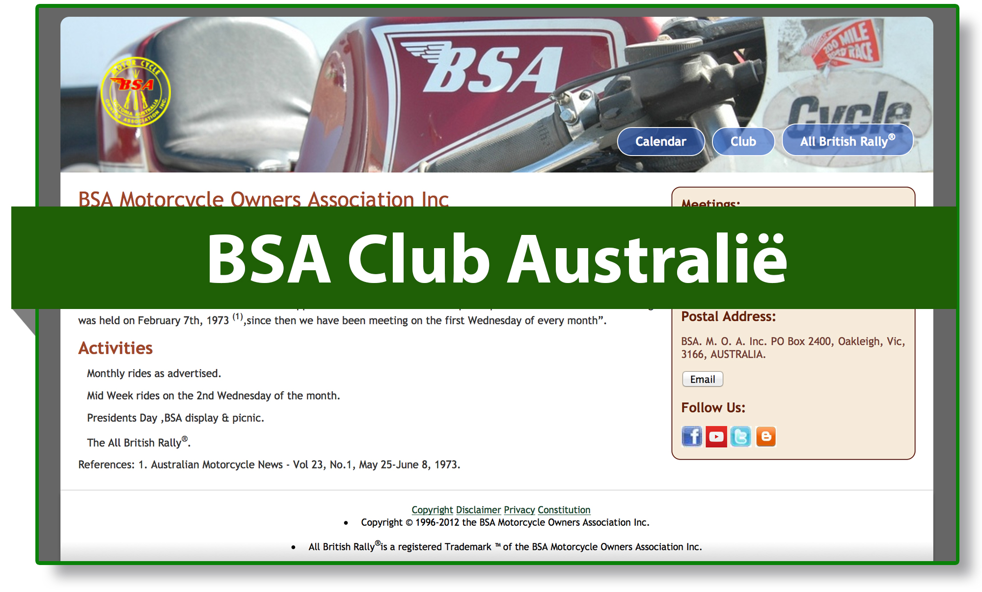 BSA club Australië