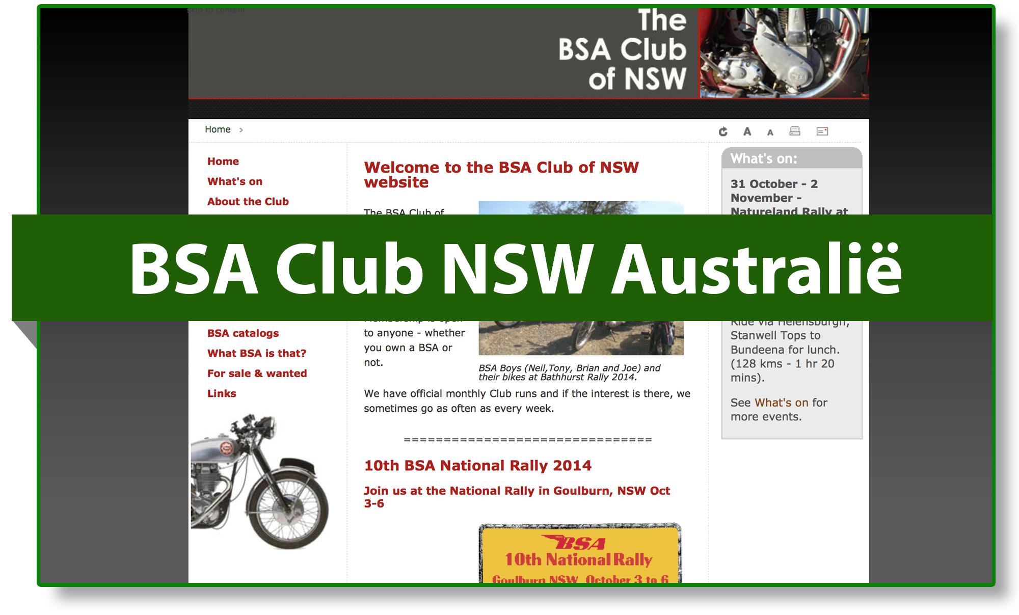 BSA club NSW Australië