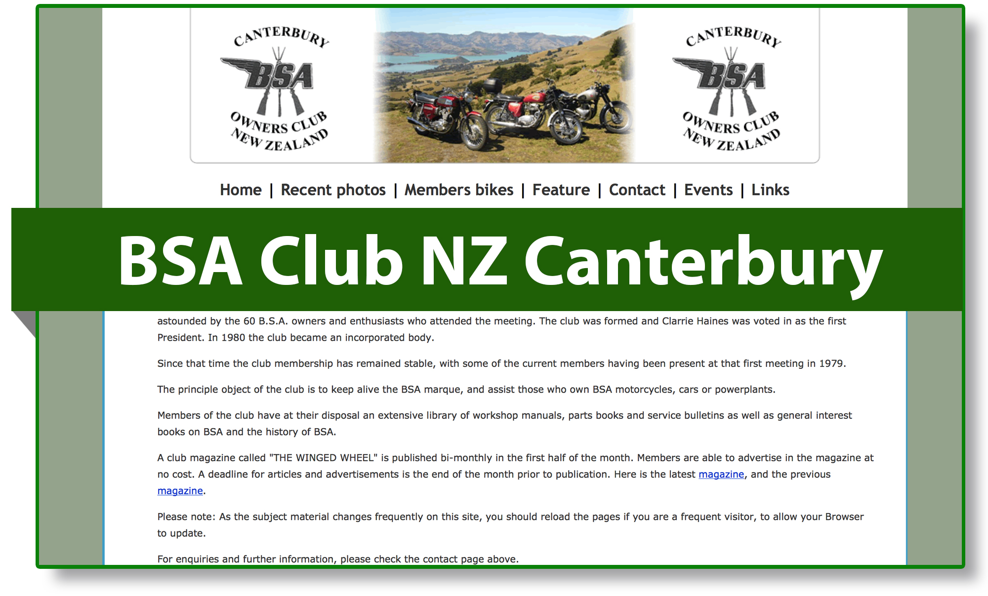 BSA club Nieuw-Zeeland Canterbury