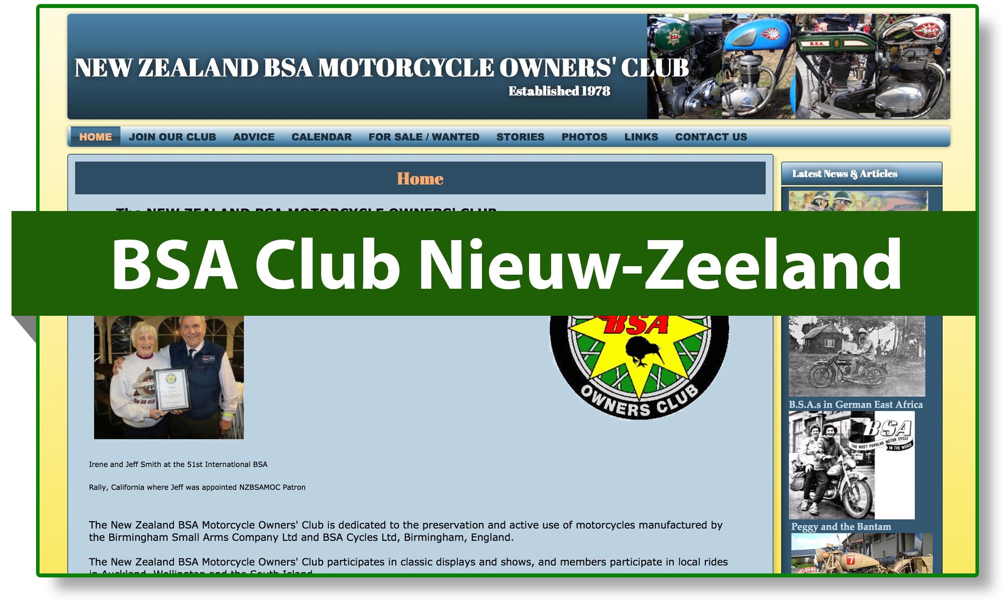 BSA club Nieuw-Zeeland