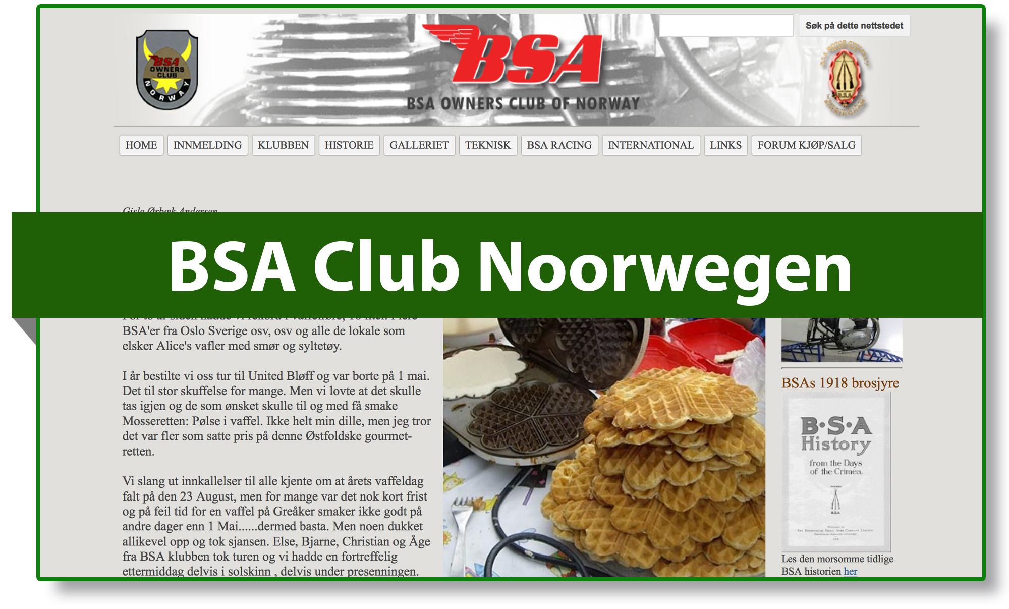 BSA club Noorwegen