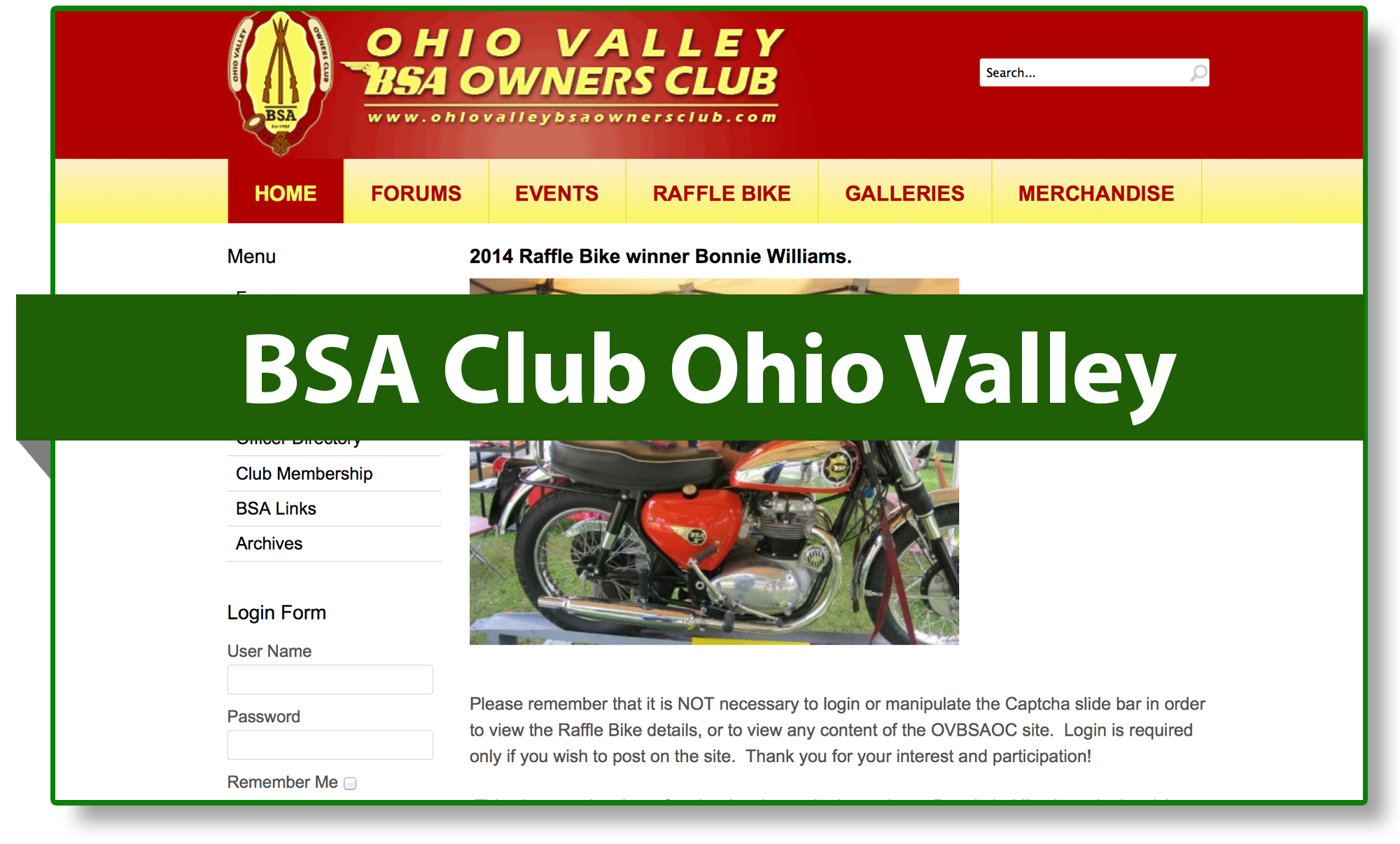 BSA club Ohio Valley