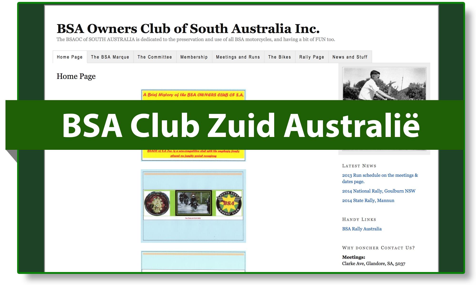 BSA club Zuid Australië