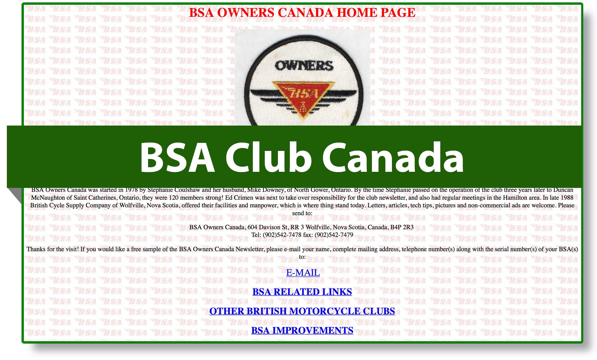 BSA club Canada