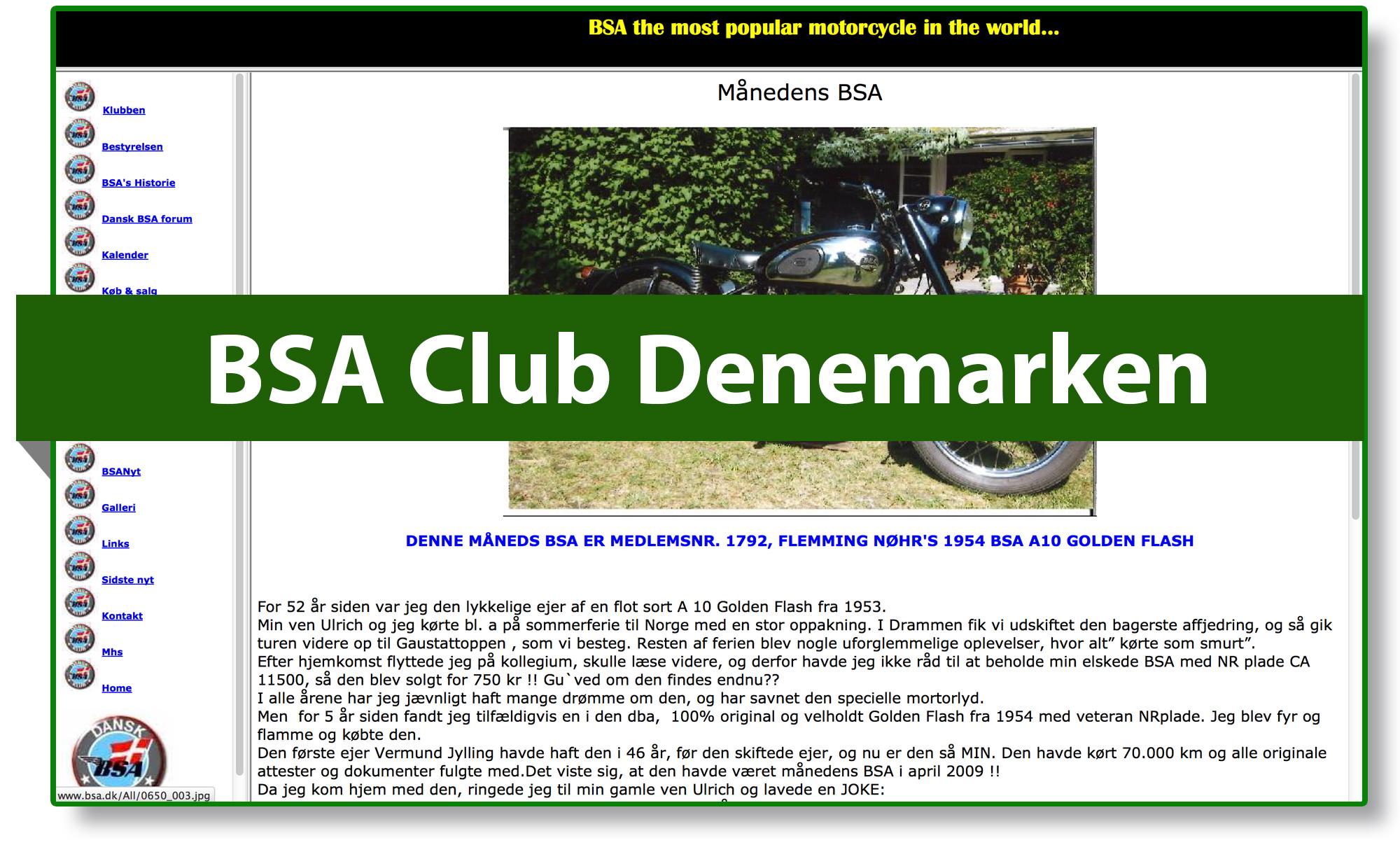 BSA club Denemarken